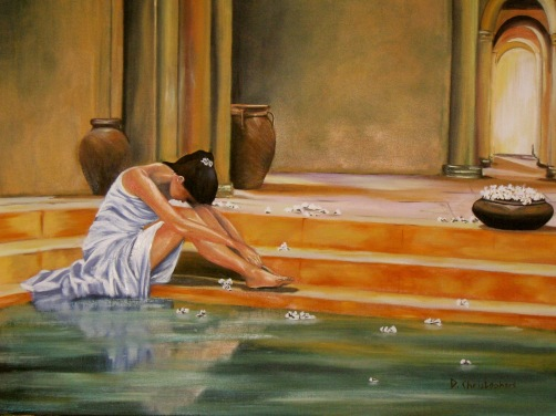 Roman Baths Oil Painting 1