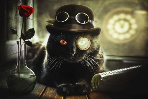 steampunk cat 2